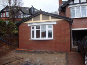 Granny flat in Runcorn Cheshire - during build